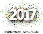2017 white sign with colour... | Shutterstock .eps vector #504678832