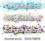 congratulations colour banners... | Shutterstock .eps vector #504678898