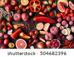 fresh vegetables and fruit in... | Shutterstock . vector #504682396