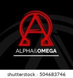 concept logo icon design of... | Shutterstock .eps vector #504683746