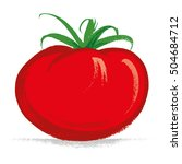 tomato hand drawn with brush  ... | Shutterstock .eps vector #504684712