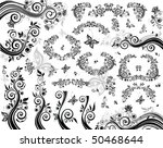 design black elements | Shutterstock .eps vector #50468644