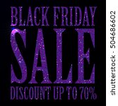 black friday sale black tag ... | Shutterstock .eps vector #504686602