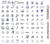 set of funky icons blue   Shutterstock .eps vector #50468812