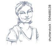 vector art drawing  portrait of ... | Shutterstock .eps vector #504688138
