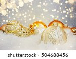 christmas background with... | Shutterstock . vector #504688456