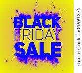 vector black friday sale... | Shutterstock .eps vector #504691375