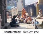 nepal  some unidentified sadhu