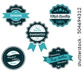 vintage labels set  collection... | Shutterstock .eps vector #504694312