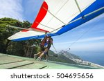Hangglider Taking Off From A...