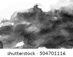 grunge ink stains on white paper | Shutterstock . vector #504701116