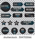 black friday sale badges and... | Shutterstock .eps vector #504703066