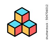 cube geometry scalable system... | Shutterstock .eps vector #504706012