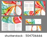 set of color abstract brochure... | Shutterstock .eps vector #504706666