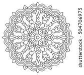 page coloring mandala. circular ... | Shutterstock .eps vector #504706975