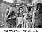 multi ethnic elementary... | Shutterstock . vector #504707266