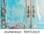 vintage style old house door... | Shutterstock . vector #504712615