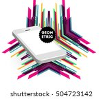 mobile phone icon with trendy... | Shutterstock .eps vector #504723142