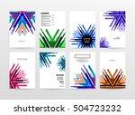 geometric background template... | Shutterstock .eps vector #504723232