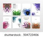 geometric background template... | Shutterstock .eps vector #504723406