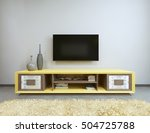 tv unit in living room with... | Shutterstock . vector #504725788
