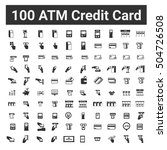 100 atm credit card icons  ...