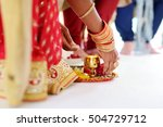 amazing hindu wedding ceremony. ... | Shutterstock . vector #504729712