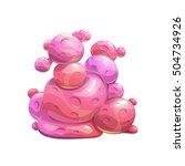 fantasy cartoon pink bubble... | Shutterstock .eps vector #504734926
