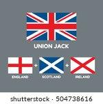 united kingdom flag  union jack ... | Shutterstock .eps vector #504738616