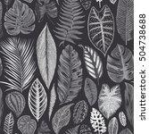 vector seamless vintage floral... | Shutterstock .eps vector #504738688