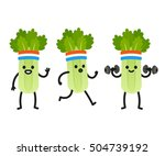 funny heath and fitness...   Shutterstock .eps vector #504739192