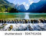 Lago di Dobbiaco - toblacher see in italy - stock photo
