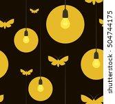 seamless vector pattern  yellow ... | Shutterstock .eps vector #504744175