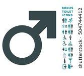 male symbol icon and bonus... | Shutterstock .eps vector #504744412