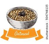 oatmeal colorful illustration.... | Shutterstock .eps vector #504748135
