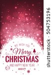 christmas and new year... | Shutterstock .eps vector #504753196