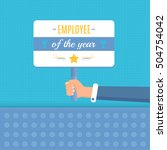 employee of the year concept... | Shutterstock .eps vector #504754042