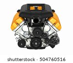 automotive engine without... | Shutterstock . vector #504760516