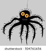 funny cartoon spider | Shutterstock .eps vector #504761656