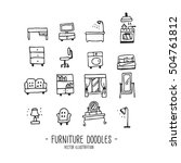 furniture. doodles. hand draw | Shutterstock .eps vector #504761812