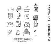furniture. doodles. hand draw | Shutterstock .eps vector #504761812