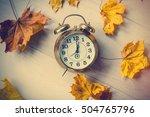 Vintage Alarm Clock With Leave...