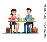 two young businessman and... | Shutterstock .eps vector #504770116