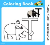 illustrator of color book with... | Shutterstock .eps vector #504770842