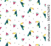 summer exotic tropical seamless ... | Shutterstock .eps vector #504776392