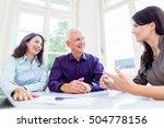 senior woman and man at... | Shutterstock . vector #504778156
