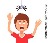 madly frightened man. boy... | Shutterstock .eps vector #504790012