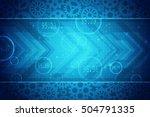 digital abstract business... | Shutterstock . vector #504791335