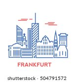 frankfurt city architecture... | Shutterstock .eps vector #504791572