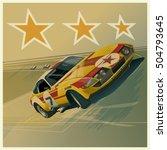 vintage racing cars | Shutterstock .eps vector #504793645